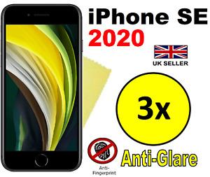 3x HQ MATTE ANTI GLARE SCREEN PROTECTOR COVER FILM GUARD APPLE IPHONE SE 2020
