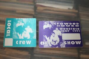 Crowded House  - 2x unused Backstage Pass -  FREE POSTAGE - Lot#01