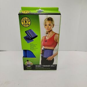 "Gold's Gym Waisttrimmer Belt With Hot Cold Pack Fits Up to 50"" Waist Adjustable"