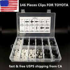 146pcs FENDER DOOR HOOD BUMPER TRIM CLIP BODY RETAINER ASSORTMENT FOR TOYOTA US