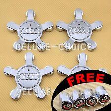 4 Car Alloy Wheel Center Hub Cap Emblem Badge Logo AUDI 4F0601165 Silver Star