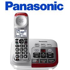 Panasonic KX-TGM450S Amplified hearing impaired cordless Phone w/ answering