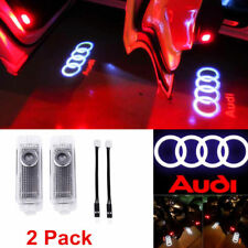 2x LED Logo Light Car Door Courtesy Laser Shadow Projector for Audi A8 A6 A4 Q7