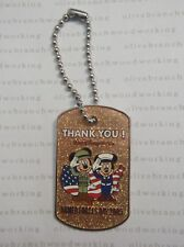 Disney World ARMED FORCES DAY 2005 Army Soldier Mickey & Navy Minnie Dog Tag Pin