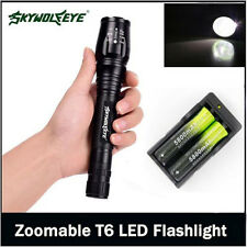 12000LM Zoom CREE XMLT6 LED Flashlight Torch Lamp Light Battery 18650 & Charger