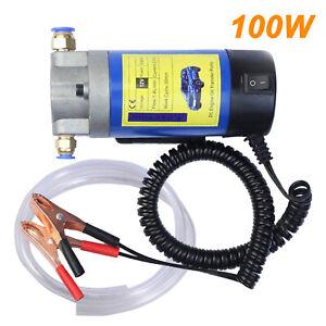 Electric 100W 12V Transfer Pump Extractor 24V Oil Fluid Diesel Car Motorbike Kit