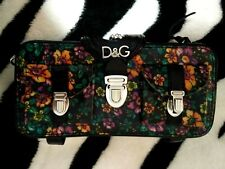 AUTH D&G Dolce&Gabbana floral leather clutch Bag