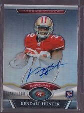 2011 Topps Platinum Kendall Hunter On Card Auto Rc Serial # to 1000