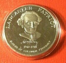 ADAM HUBLEY ~Patriot~Red Rose Coin Club,Lancaster,Pa. 1972 1 Troy oz..999 Silver