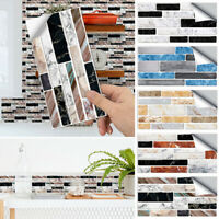 9pcs PVC Wall Sticker Self Adhesive Tile Sticker Bathroom Kitchen Home Decor AU