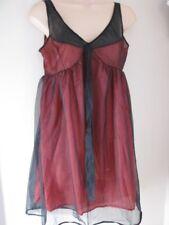 Vintage Baby Doll Nighty Night  Dress 100%Nylon black / red size W