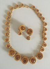 Vintage demi parure by David Dubin N.R necklace & earrings