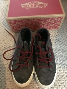 Vans SK8-Mid Reissue V Animal Campo Grey Suede Boots Size 3