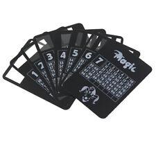 New Cool Black Plastic PVC Poker Waterproof Magic Playing Cards Desk Table GameG