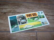 Prospectus / Brochure FIAT 125 1968 / 1969 //