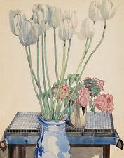 Mackintosh Rennie Charles White Tulips Print 11 x 14  #5973
