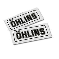 OHLINS replacement BLACK on clear  decals graphics stickers x 2 pieces MED 65mm