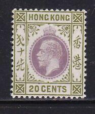 Album Treasures Hong Kong Scott # 139  20c  George V  Mint LH