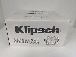 "Klipsch 8"" Black Two-Way Pivoting In Ceiling Loudspeaker, CDT-5800-C II - Each"