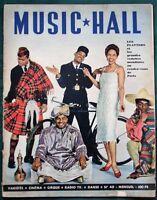 Music Hall 1958 French Magazine - The Platters  Jacques Tati  Helmut Zacharias