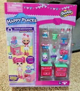 Shopkins Happy Places Muffin Kitty Kitchen Decorator's Pack NEW