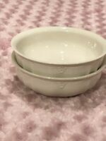 """2 LENOX Casual Elegance Soup/Cereal Porcelain  Bowls 6 1/8"""" x 2"""" Made in USA"""