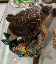 """Sea Turtle Table Sculpture 4"""" plastic"""