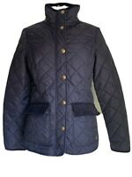 Joules Women's Coat Black Quilted Jacket  Autumn / Winter UK Size 10 EU S
