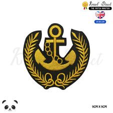 Anchor Golden Sailor Navy Anchor Embroidered Iron On Sew On Patch Badge