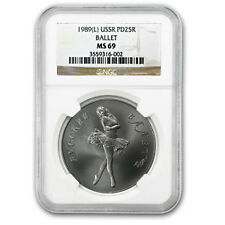 1989 1 oz Palladium Russian Ballerina Coin - MS-69 NGC - SKU #66215