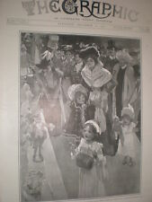 Toys at the Truth Doll Show Albert Hall London 1901 old print