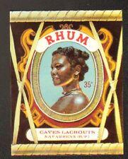 """NAVARRENX (64) ETIQUETTE de RHUM """"Ets. LACROUTS"""" 14x11cm."""