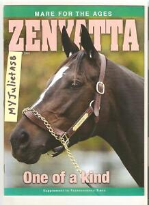 HALL OF FAMER  ZENYATTA Thoroughbred Times All 20 races in photos Program MINT