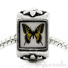 Monarch Butterfly European Charm Bead For European Charm Bracelets And Necklaces