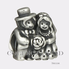 Authentic Pandora Sterling Silver Mr & Mrs Bead 791116