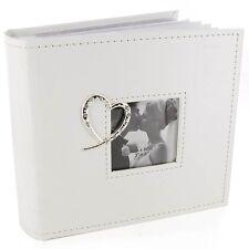 Crystal Heart White Wedding Photo Album WG260