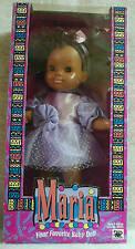 """1994 RARE Olmec Toys Maria Baby Doll w/ Sleepy Eyes NOS 13.5"""" African American"""