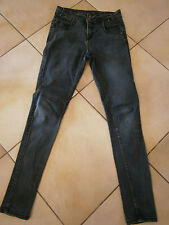JEAN FEMME GRIS TAILLE HAUTE 38 MARQUE NEW LOOK