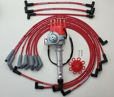 CHEVY BIG BLOCK 396 454 SMALL CAP HEI DISTRIBUTOR + 8.5mm RED PLUG WIRES 45's