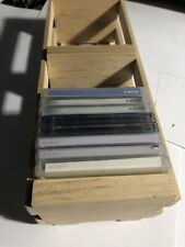 Wooden Crate Minidisc   MD media storage box. Holds 27 discs with slipcases.