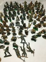 Large Lot of 85 Vintage Plastic Soldier Figures