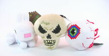 "TERRARIA set of 3 plush 7"" soft toys EYE OF CTHULHU SKELETRON BUNNY game - NEW!"