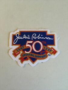 """Jackie Robinson Breaking Barriers 1947-1997 50th Anniversary 4"""" Patch"""