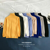 New Men Slim Warm Knit Sweater High Neck Jumper Top Turtleneck Winter Pullover