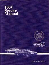 1993 Buick Century Service Shop Repair Manual Book Engine Drivetrain Electrical