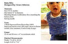Easy Knit Baby Bibs - Grace Akhrem Knitting Pattern