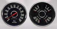 1951 1952 Ford pickup New Vintage gauge kit-Woodward series BLACK