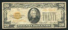 FR. 2402 1928 $20 TWENTY DOLLARS GOLD CERTIFICATE CURRENCY NOTE (C)