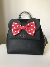 NWT Kate Spade Neema Minnie Mouse Ears Backpack Black PXRU8273 - Sample