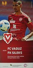 Programm UEFA EL 2016/17 FC Vaduz - FK Sileks Kratovo